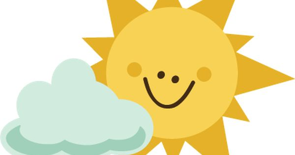 Sun With Cloud SVG file for scrapbooking sun svg file cloud svg.