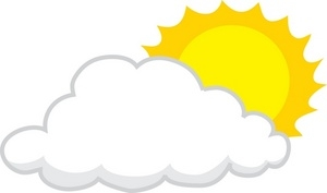 sun with cloud clipart #7