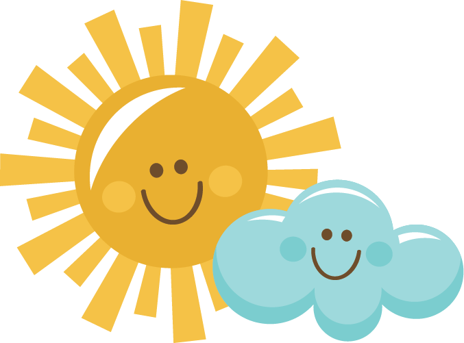 Sun And Clouds Clipart.