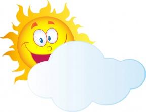 sun with cloud clipart #6