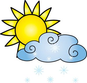 sun with cloud clipart #4