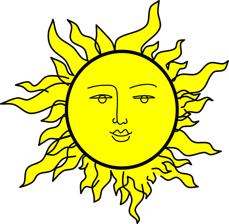Free Clipart: Sun with a face by Rones.