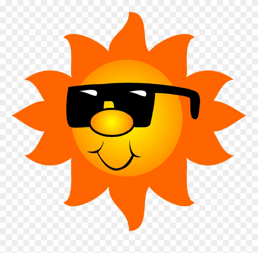 Sun Wearing Sunglasses Free Clip Art.