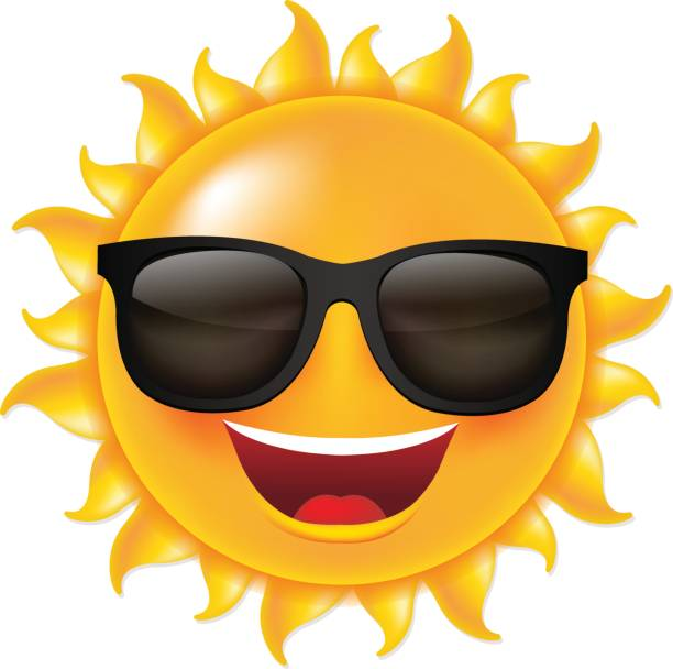 Clipart Of Sun With Sunglasses.