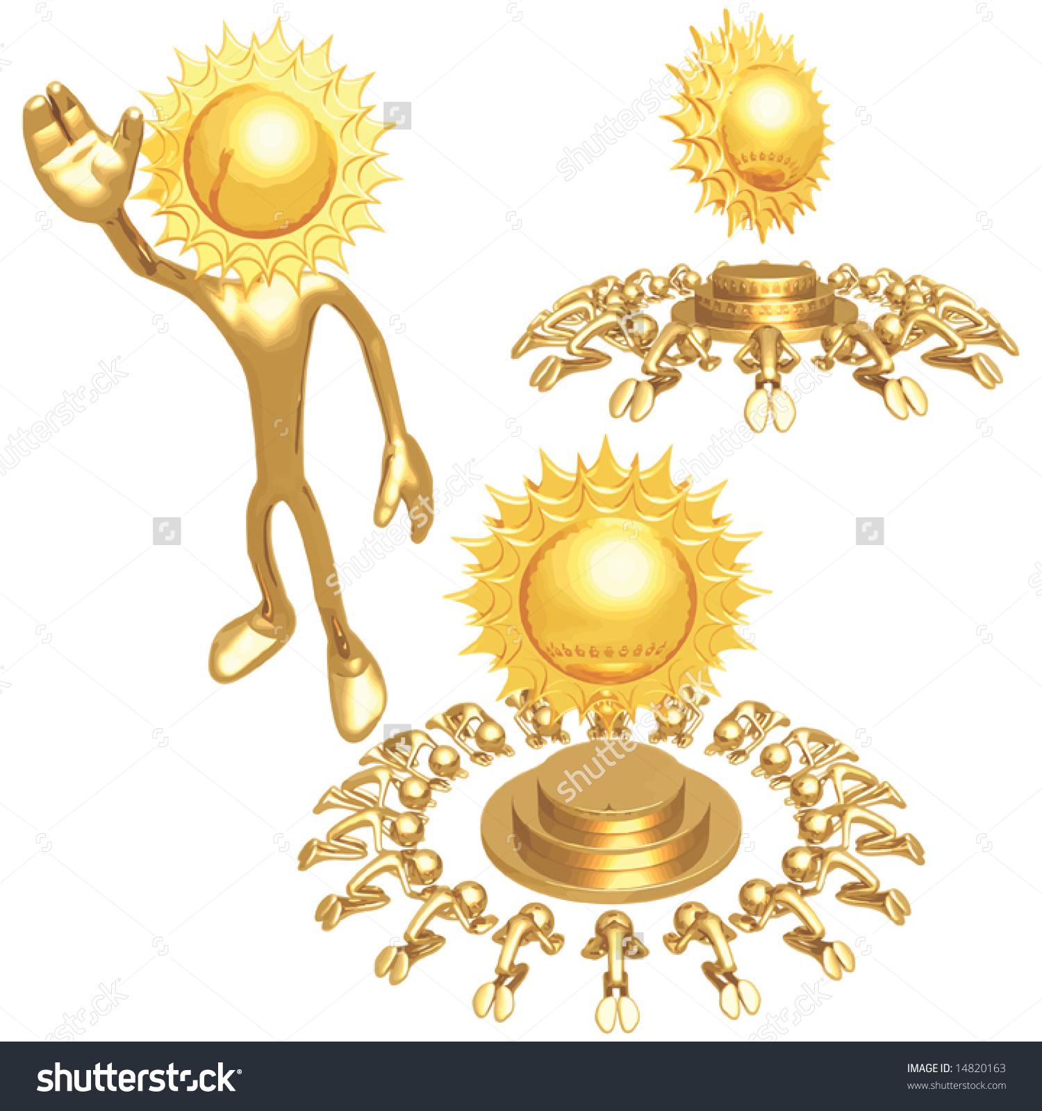 Sun Worship Stock Vector Illustration 14820163 : Shutterstock.