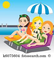 Sunbathing Clipart Illustrations. 2,095 sunbathing clip art vector.