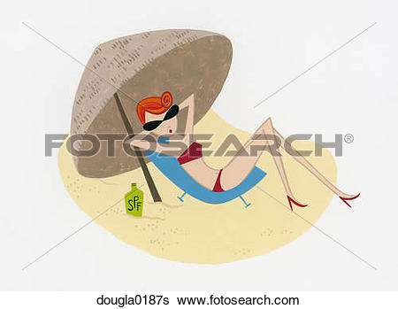 Stock Illustration of Sunbather dougla0187s.