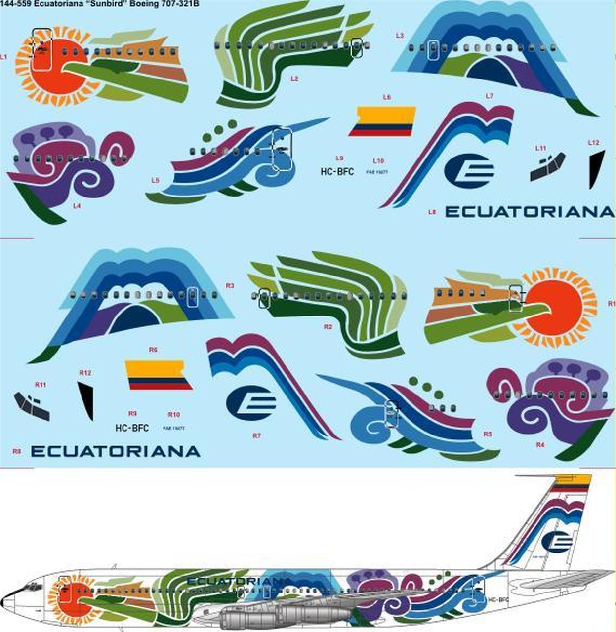 1/144 Scale Decal Ecuatoriana \