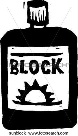 Clipart of Sunblock sunblock.