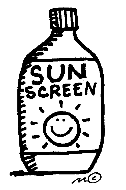 Showing post & media for Use sunscreen clip art cartoon.