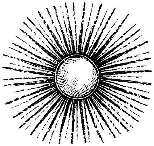 Sunburst Outline Clipart.