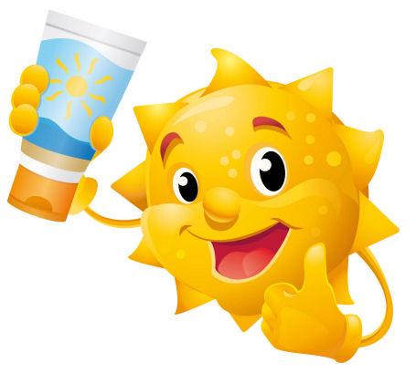 Sun Lotion Clipart.