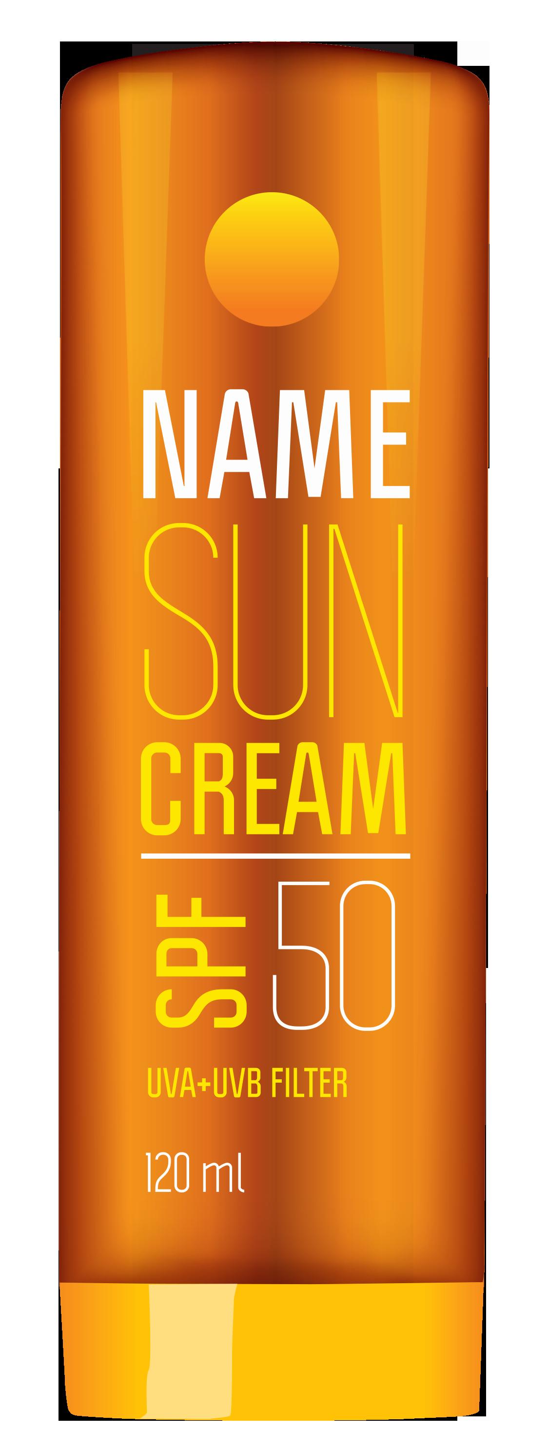 Sun Cream Tube PNG Clipart Picture.