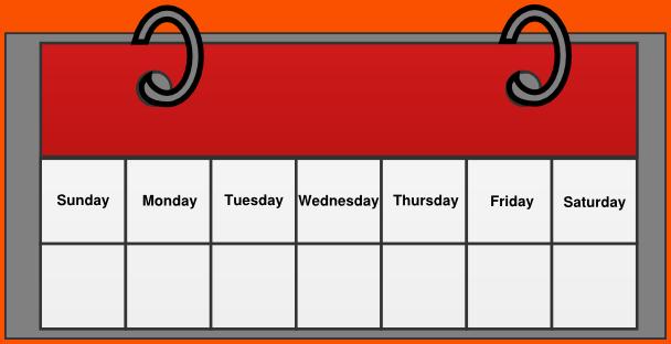 Blank Calendar Clipart : Sunday calendar clipart clipground
