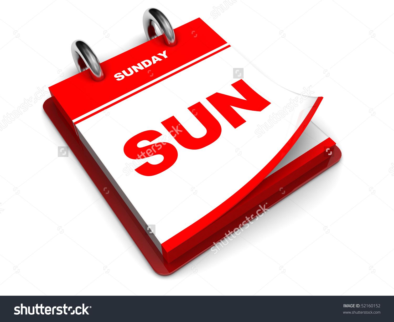 Sunday calendar clipart.