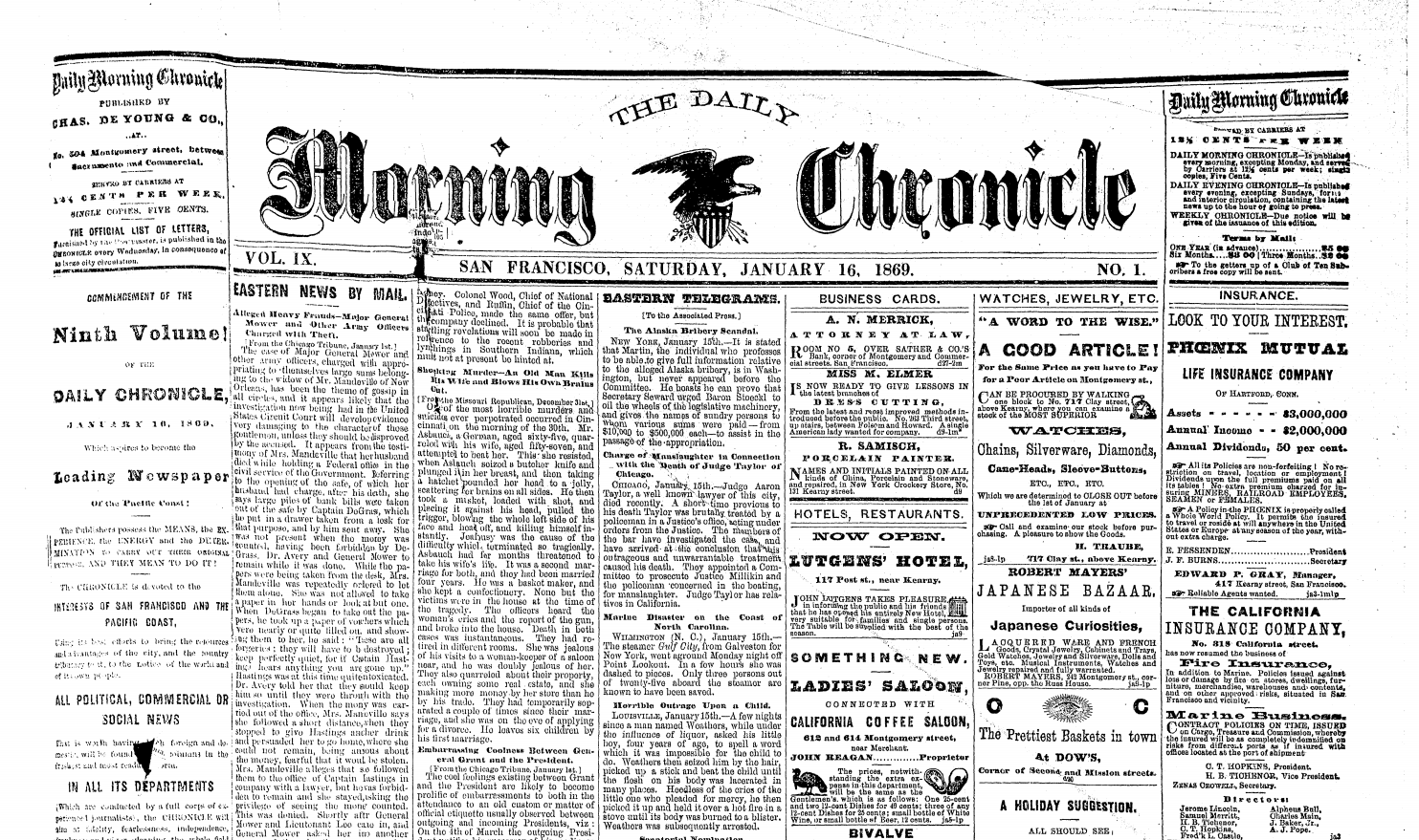 New eresource: San Francisco Chronicle, 1865.