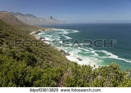 "Stock Photograph of ""Coast near Kogel Bay, False Bay, Western Cape."