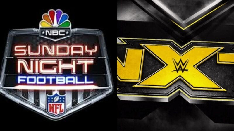 WWE ran an NXT ad during Sunday Night Football on NBC.