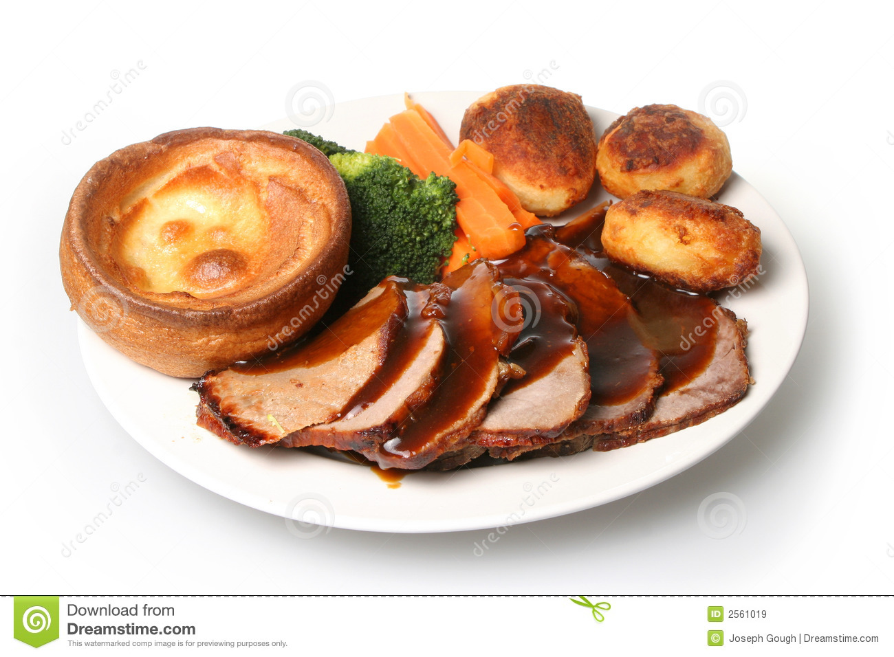 Roast Beef Dinner Royalty Free Stock Images.
