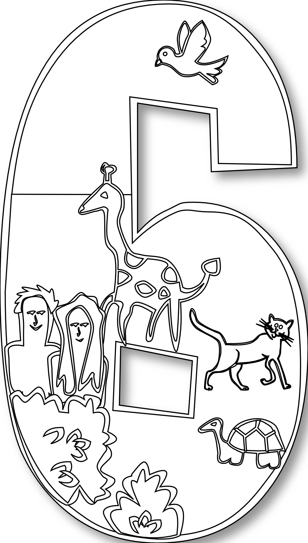 number clipart black and white creation.