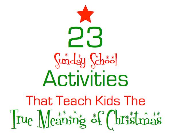 Christmas Sunday School Ideas.