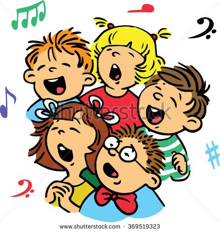 Kids Singing Clipart sunday school sing a s...