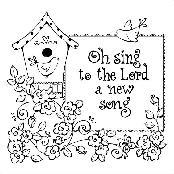 Sunday School Sing A Song Clipart Black And White.