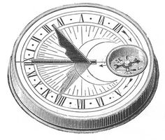 Sundial Clip Art.