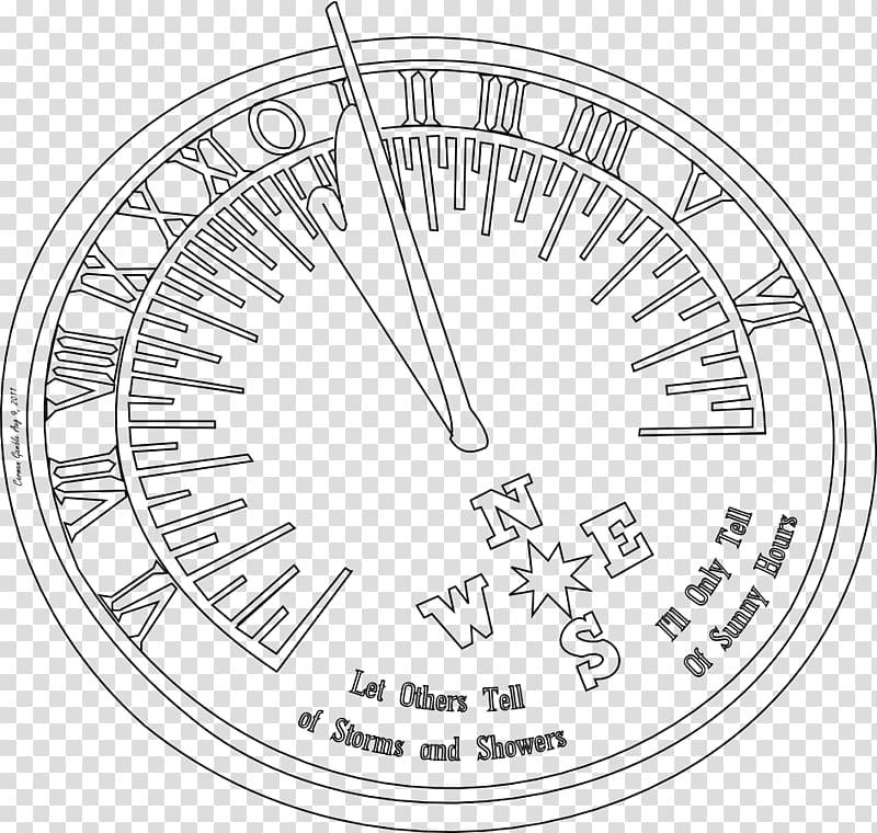 Sundial Drawing Compass Clock, drawing compas transparent.