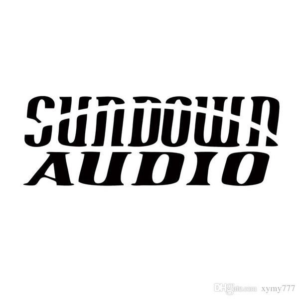 New Style For Sundown Audio Sticker Vinyl Decal Automobile Jdm Car Stereo  System Car Styling Accessories Decorate.