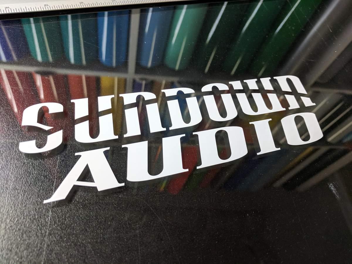 Sundown Audio Decal (24.