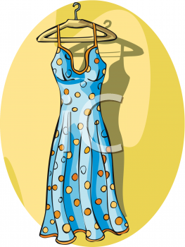 A Womans Polka Dot Sundress.