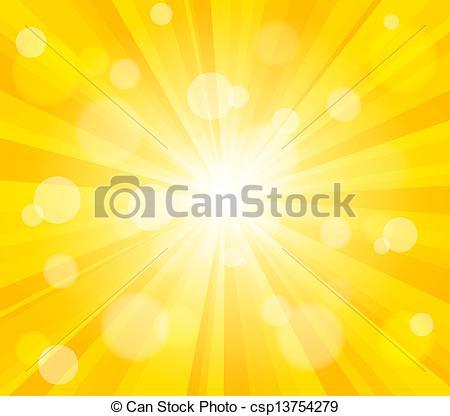 Vectors Illustration of Bright vector sun effect background.