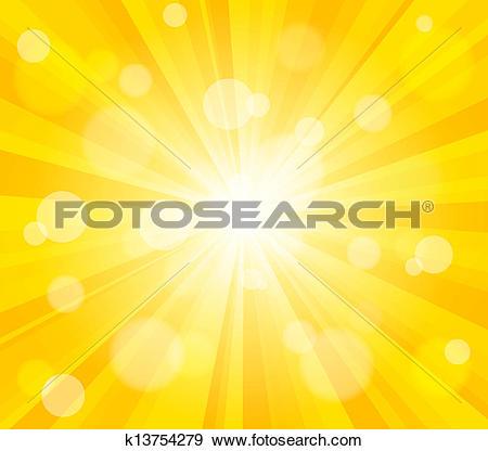 Clip Art of Bright vector sun effect background k13754279.