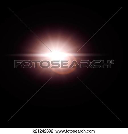 Clip Art of Lens Flare sun effect k21242392.