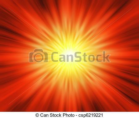 Clipart of Sun blast.