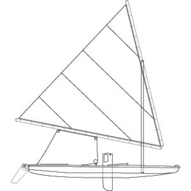 Sunfish sailboat Vector.