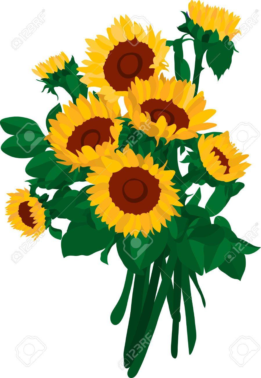 Sunflower bouquet clipart 1 » Clipart Portal.