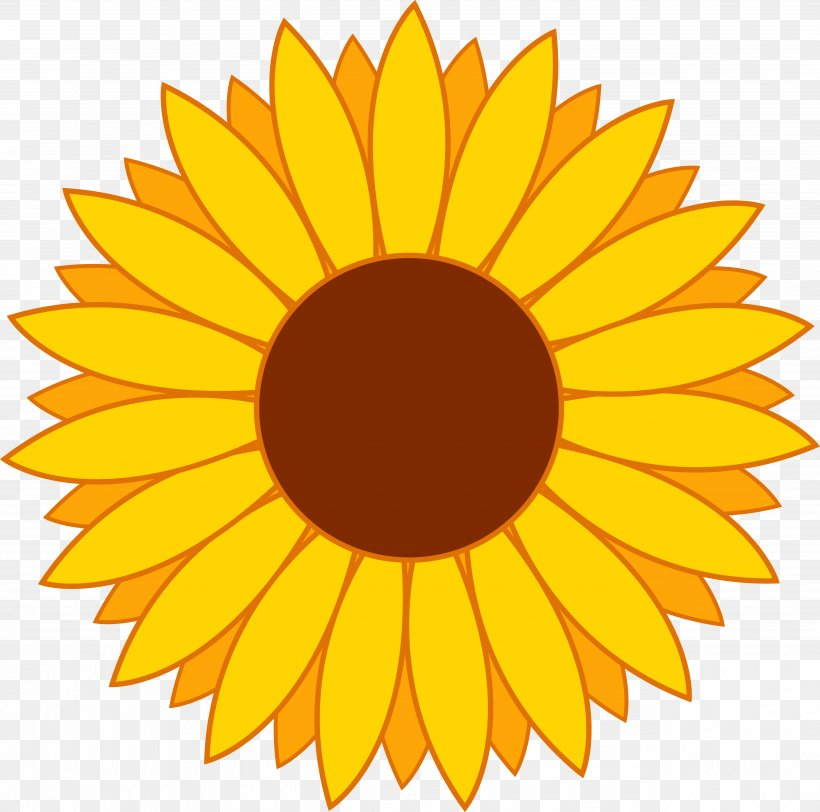 Common Sunflower Clip Art, PNG, 5110x5064px, Common.