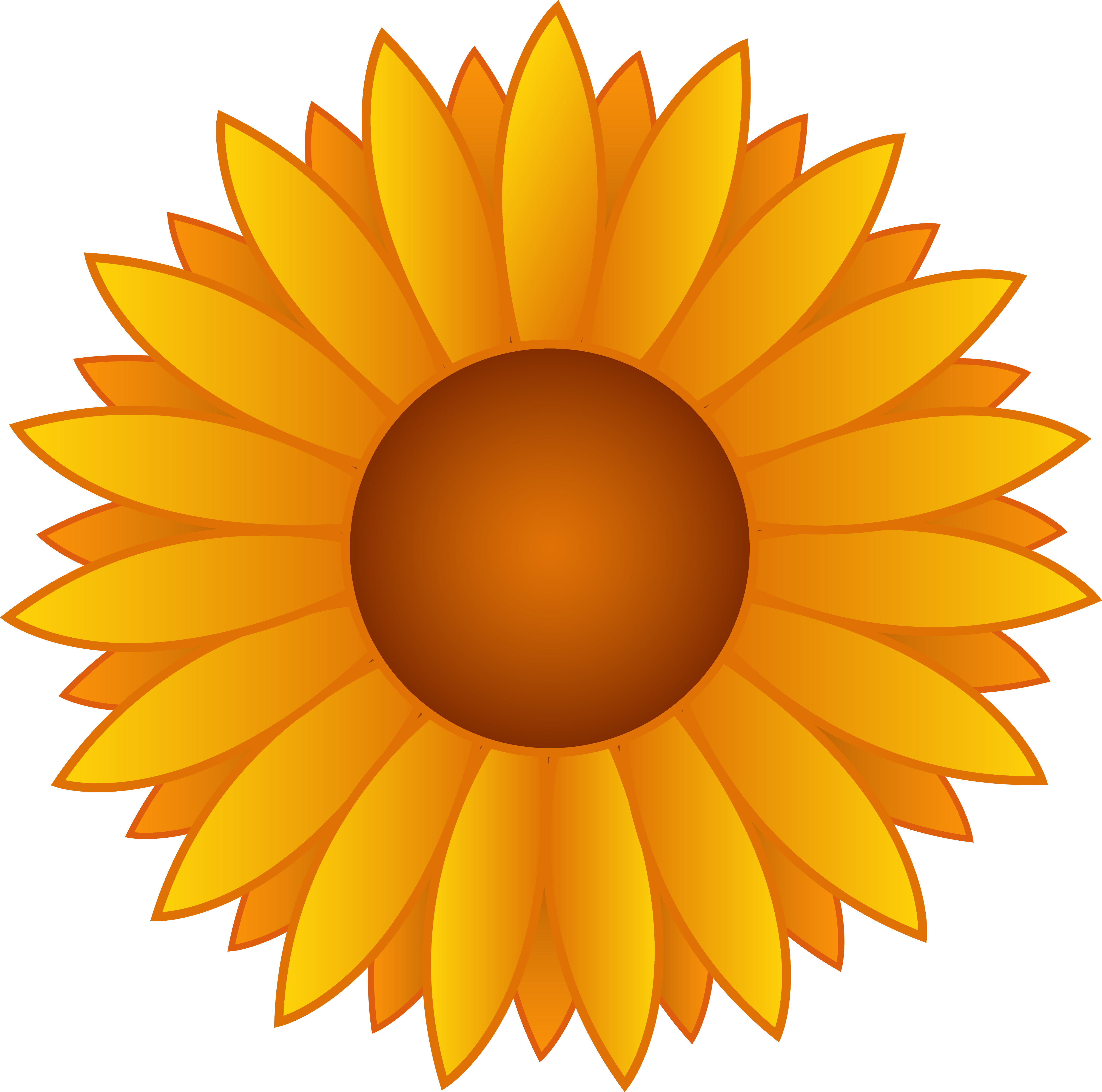 Best Beautiful Sunflower Clipart #4003.