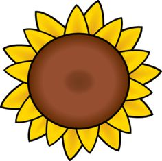 Sunflower clip art 2.