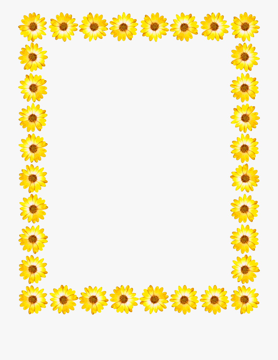 14 Cliparts For Free Sunflowers Clipart Frame And Use.
