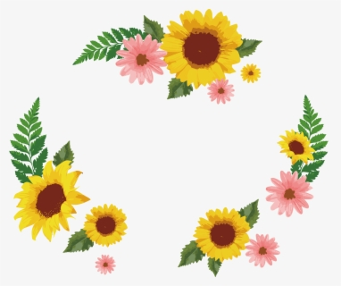 Free Sunflower Border Clip Art with No Background.