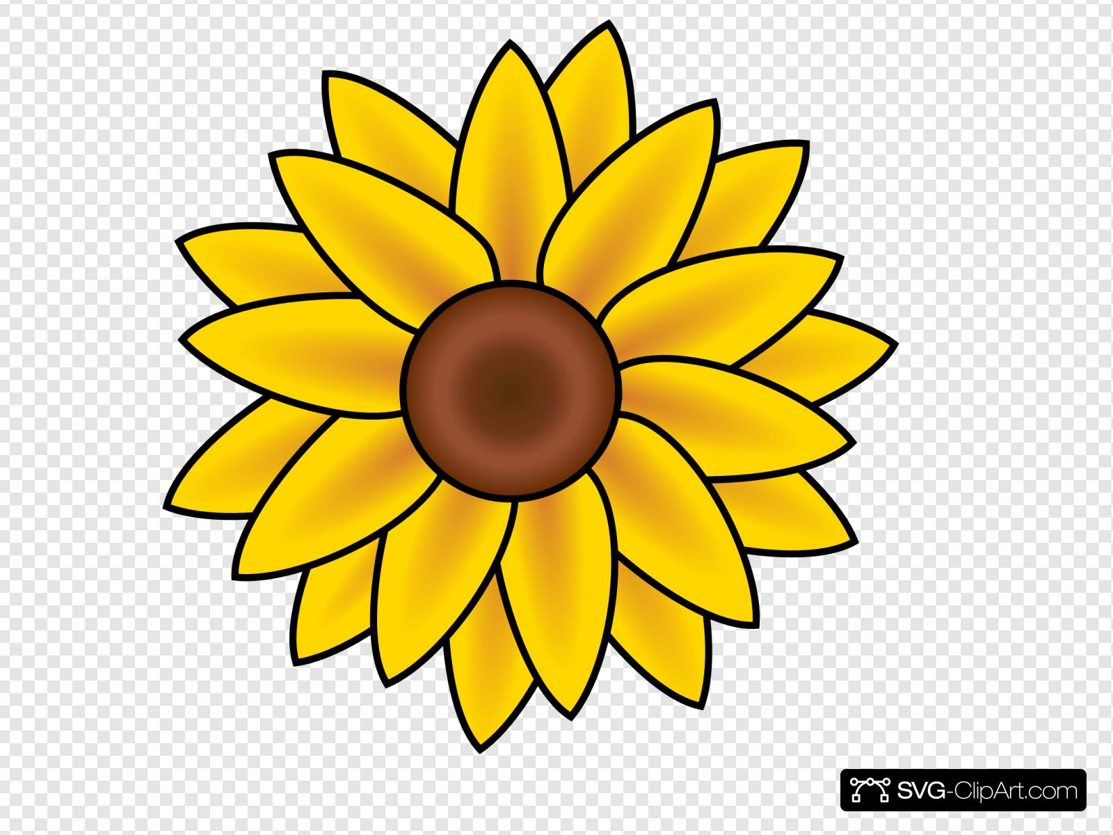 Sunflower Clip art, Icon and SVG.