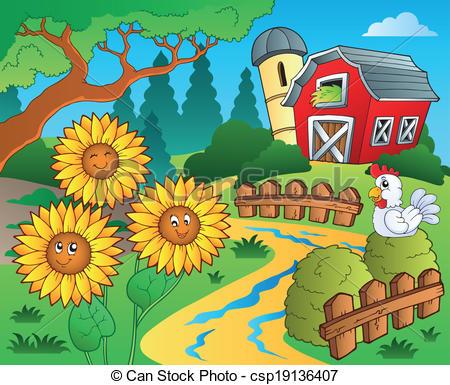Sunflower Fields Clipart Clipground