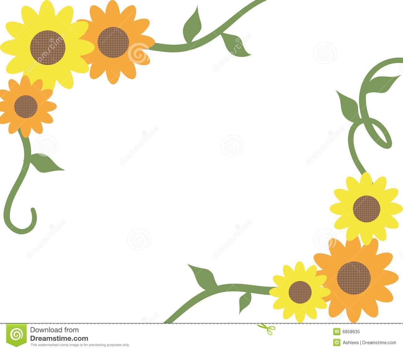 206 Sunflower Border free clipart.