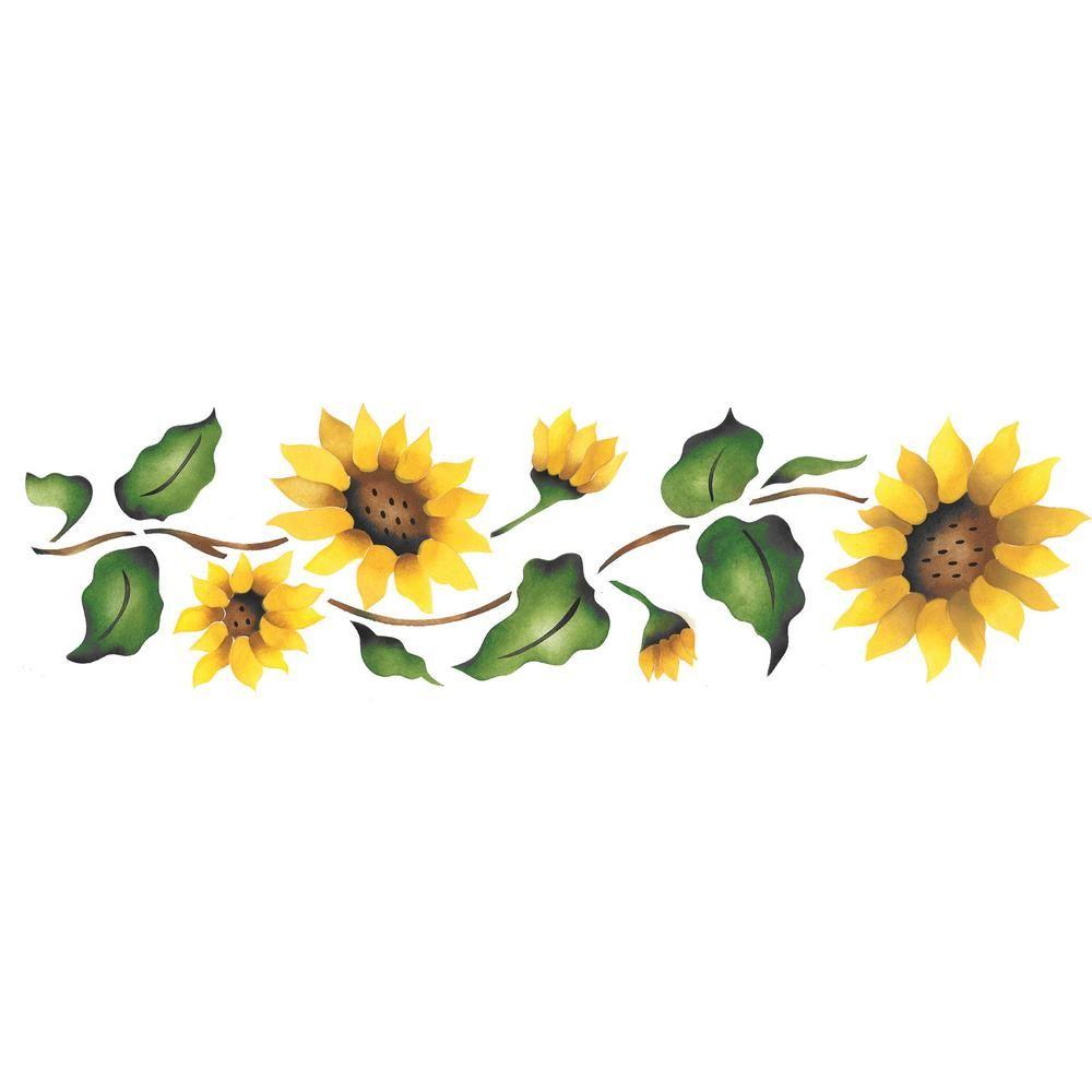 Designer Stencils Sunflower Border Wall Stencil.