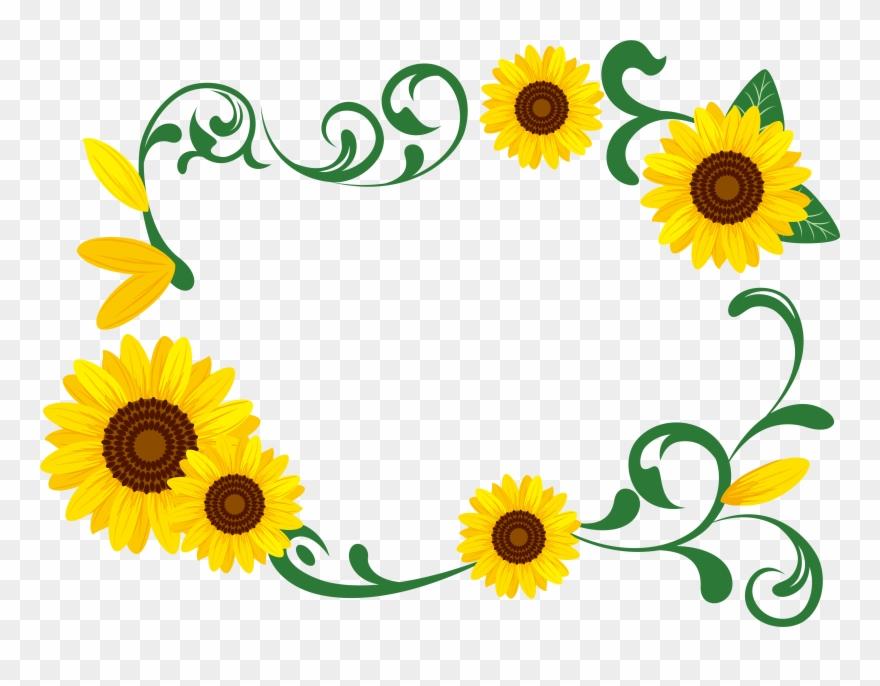 Garland Clipart Sunflower.