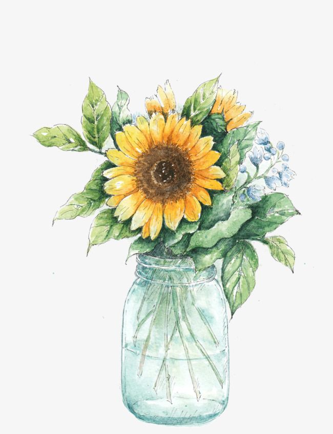 Vase Of Sunflowers in 2019.