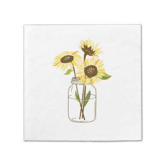 Sunflower In Mason Jar Clipart.